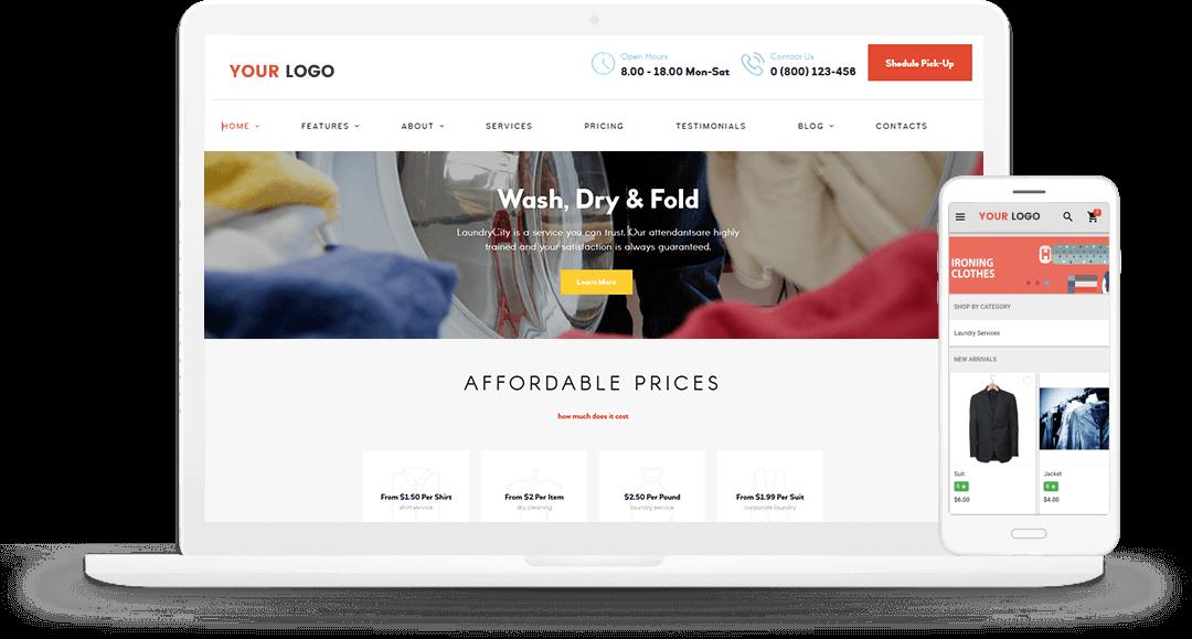 Laundry eCommerce solution